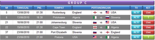 Jadwal Grup C World Cup 2010 Afsel
