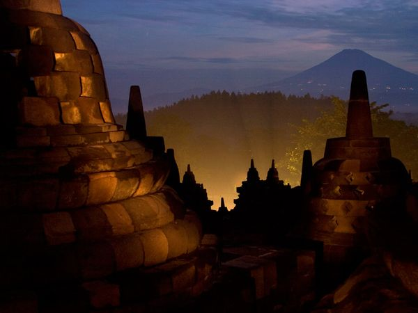 borobudur in the night