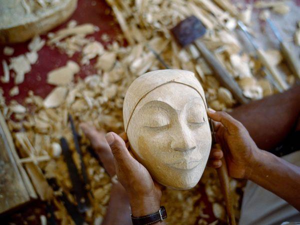Carved mask, Bali