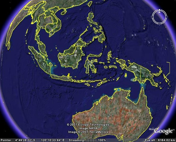 Indonesia dari Google Earth