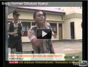 Briptu Norman Kamaru saat dihukum